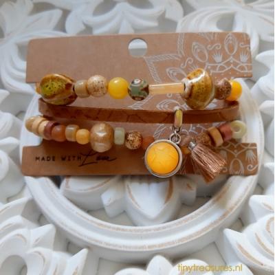 armband in aardetinten