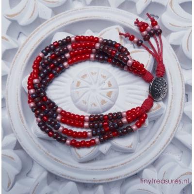 kralenarmband rood
