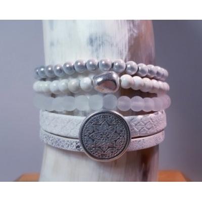 armbanden set in wit