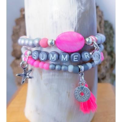 summer setje grijs/ roze