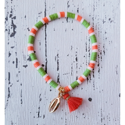 katsuki armband groen/oranje/goud
