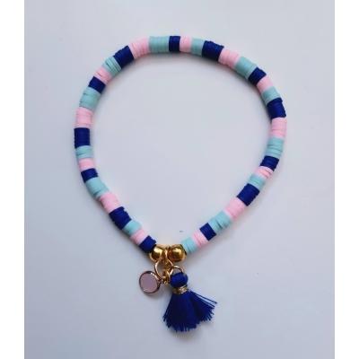 katsuki armbandje blauw/roze/goud