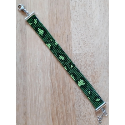 miyuki panter armband groen