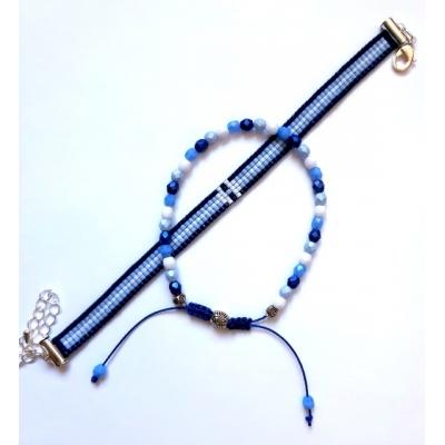 Miyuki armband setje blauw
