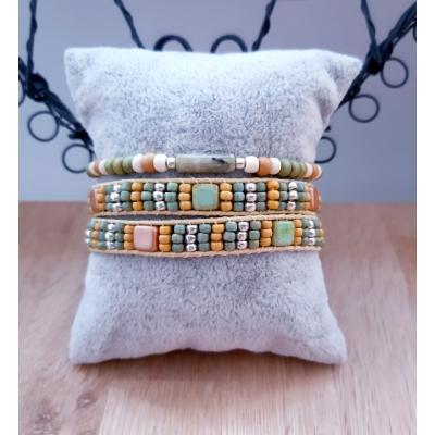 wikkelarmband in pasteltinten