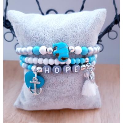 hope armband grijs/ blauw