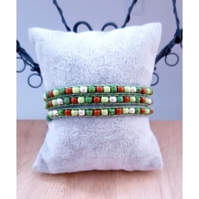 wikkelarmband in groen