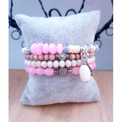 Soft pink/ crème