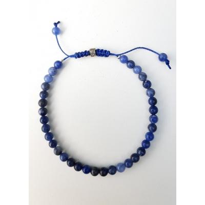 schuifarmbandje natuursteen blauw