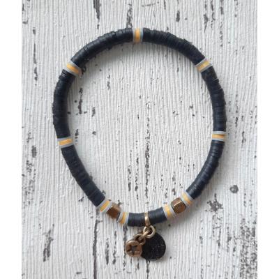 katsuki armband zwart met goud brons