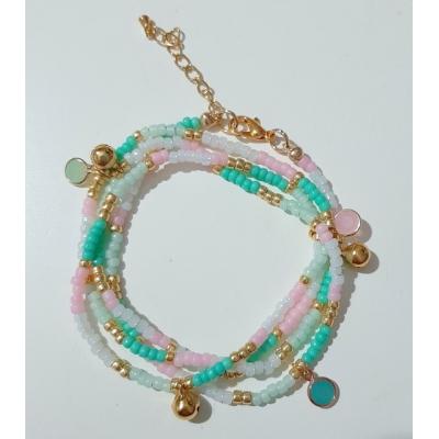 Miyuki wikkelarmband pastel