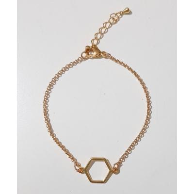 goudkleurig hexagon armbandje