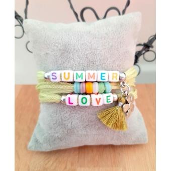 summer / love zijden wikkelarmband lime