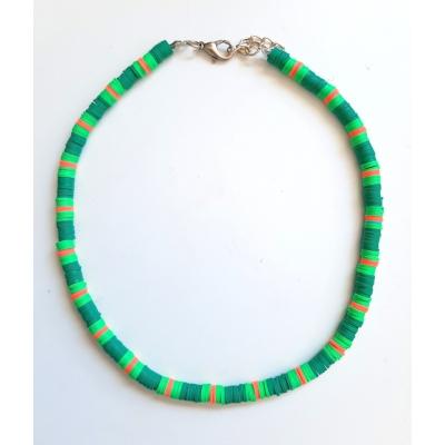 katsuki ketting in groen met oranje