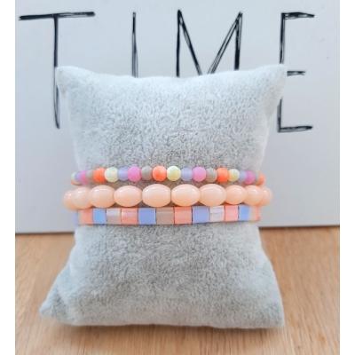 armband setje in pastel