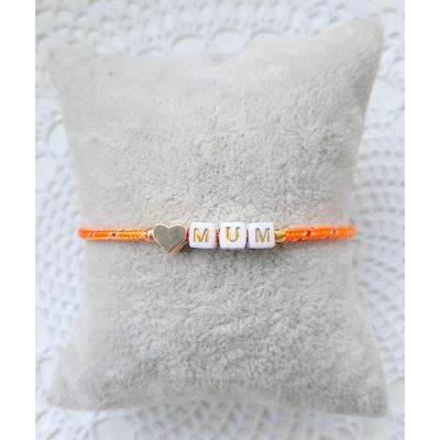 i love mum armbandje oranje